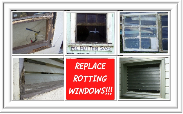 replace rotting                       windows