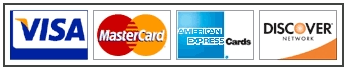 We Accept<br />             Visa, Mastercard, Discover and American Express