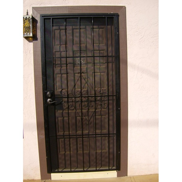 Aluminum Security Doors : Handyman hookup metal security doors installed with a